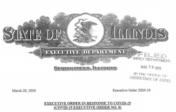 """Full Text of Executive Order to """"Stay At Home"""" in Illinois re: COVID-19"""