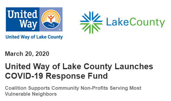 United Way of Lake County Launches COVID-19 Relief Fund